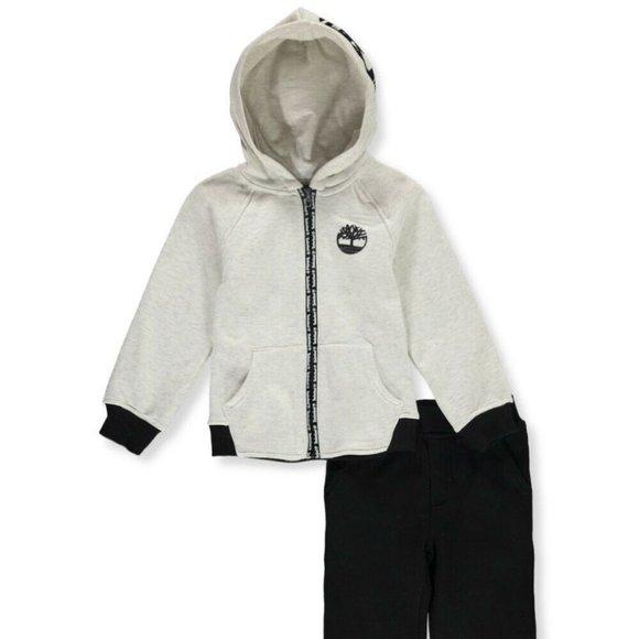 Timberland Boys 2-Pc Fleece Sweatshirt & Pants